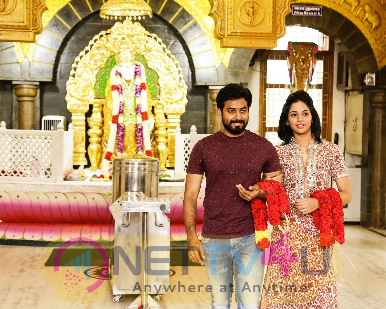Aari And Aishwarya Dutta New Movie Pooja Pics