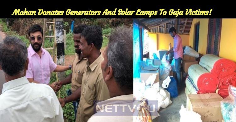 Mohan Donates Generators And Solar Lamps To Gaja Victims! Appreciates EB Staffs!