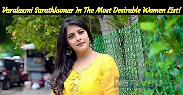 Varalaxmi Sarathkumar In The Most Desirable Women List!