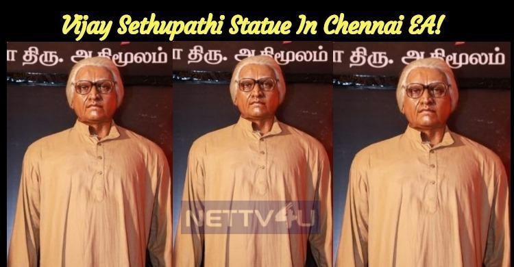 Vijay Sethupathi Statue In Chennai EA!