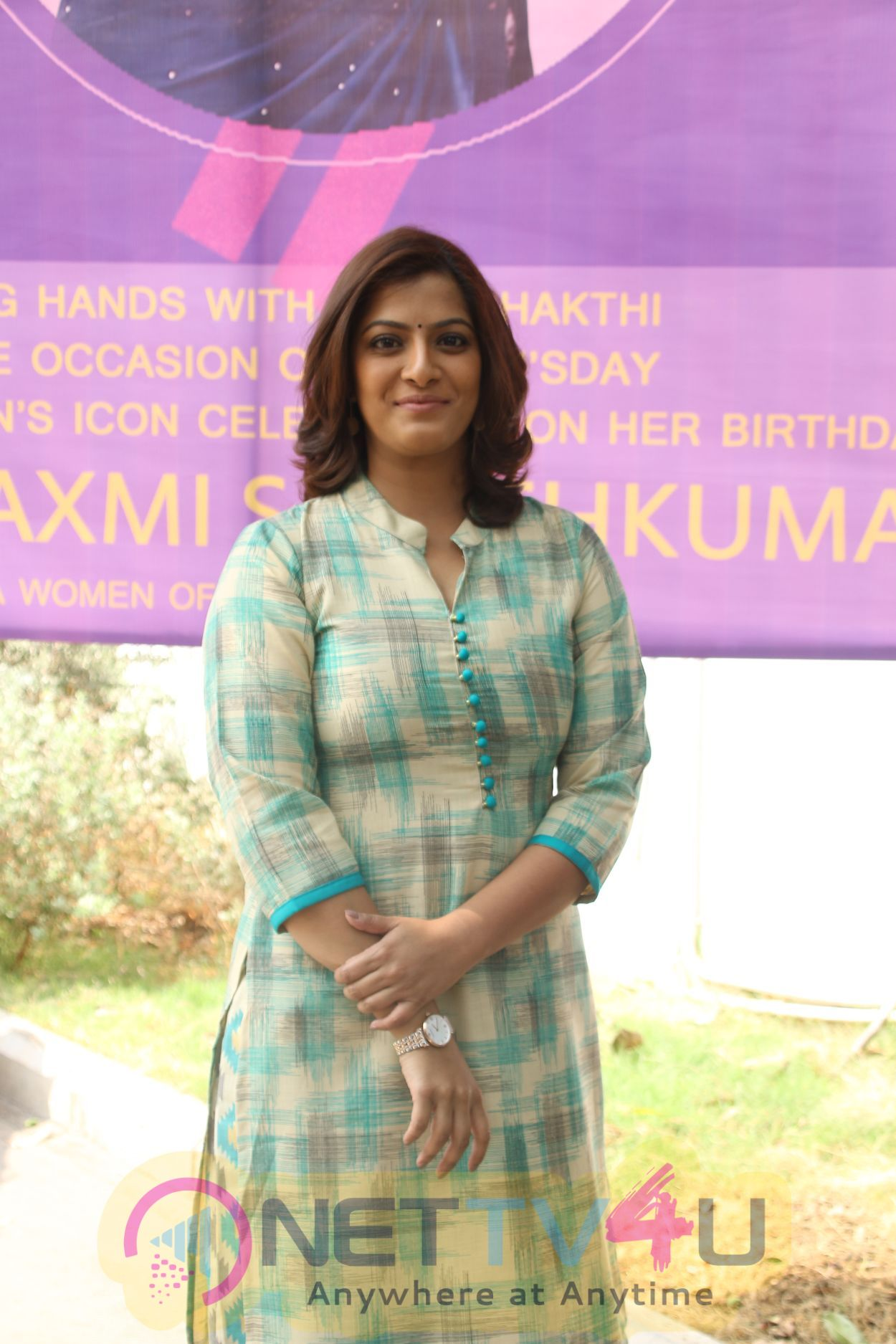 Actress Varalaxmi Sarathkumar At DG Vaishnav College Event Images