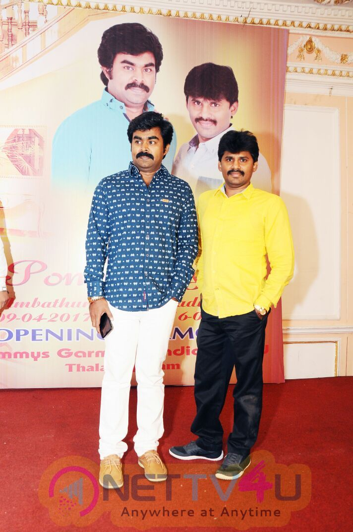 Pommys Silks Show Room Launch Press Meet Stills