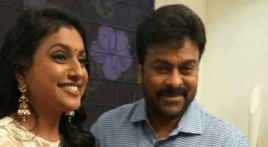 Roja Dances For Number In Chiranjeevi's Movie