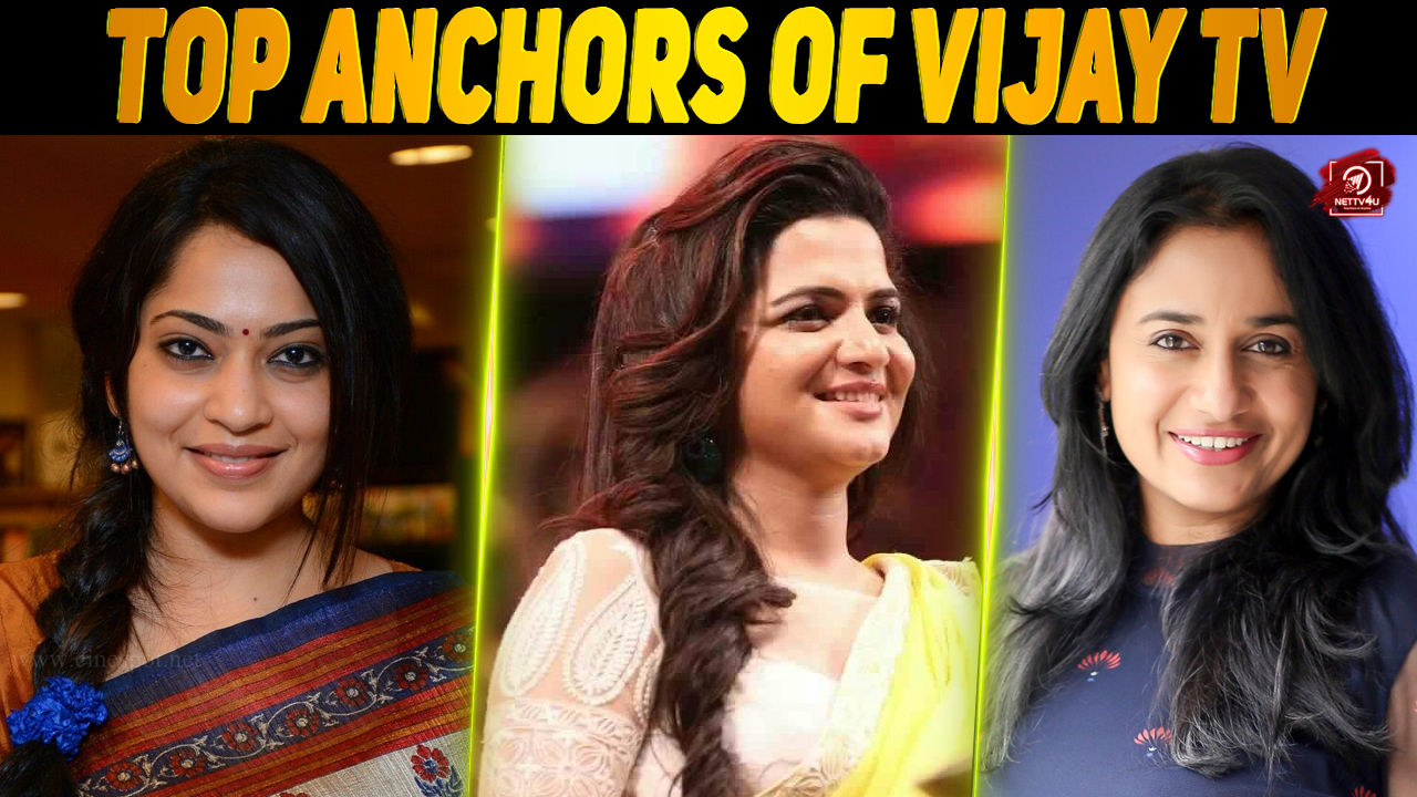 Most Loved On-screen VJ Anchors In Tamil Channel Vijay TV