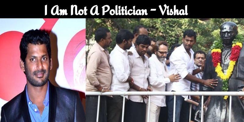I Am Not A Politician, But People's Representative – Vishal