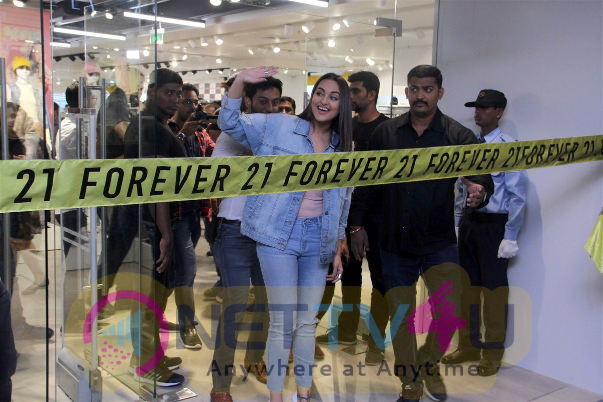 Picturesque Photos Of Bollywood Actress Sonakshi Sinha Inaugurates Shop At Express Avenue Mall