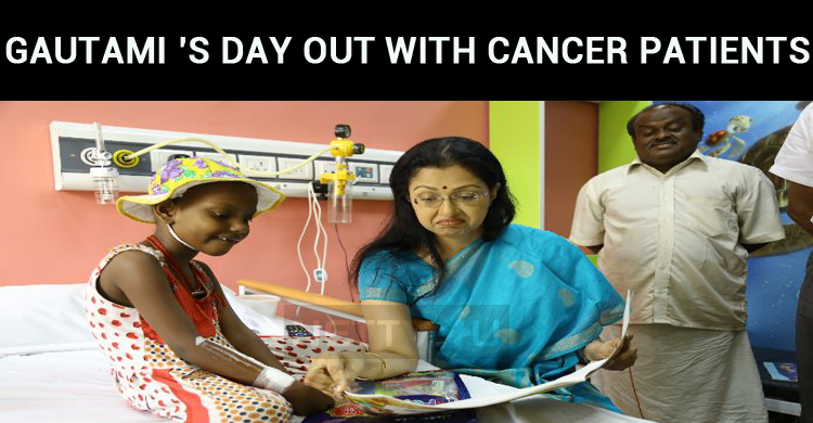 Gautami's Day Out With Cancer Patients!