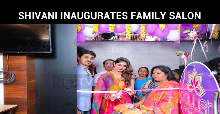 Vijay TV Fame Shivani In Nagercoil Aayush Family Salon!
