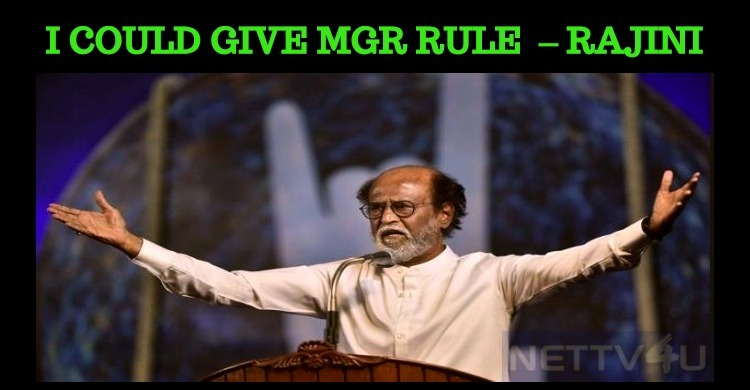 I Could Give The Golden Rule Of MGR – Rajini