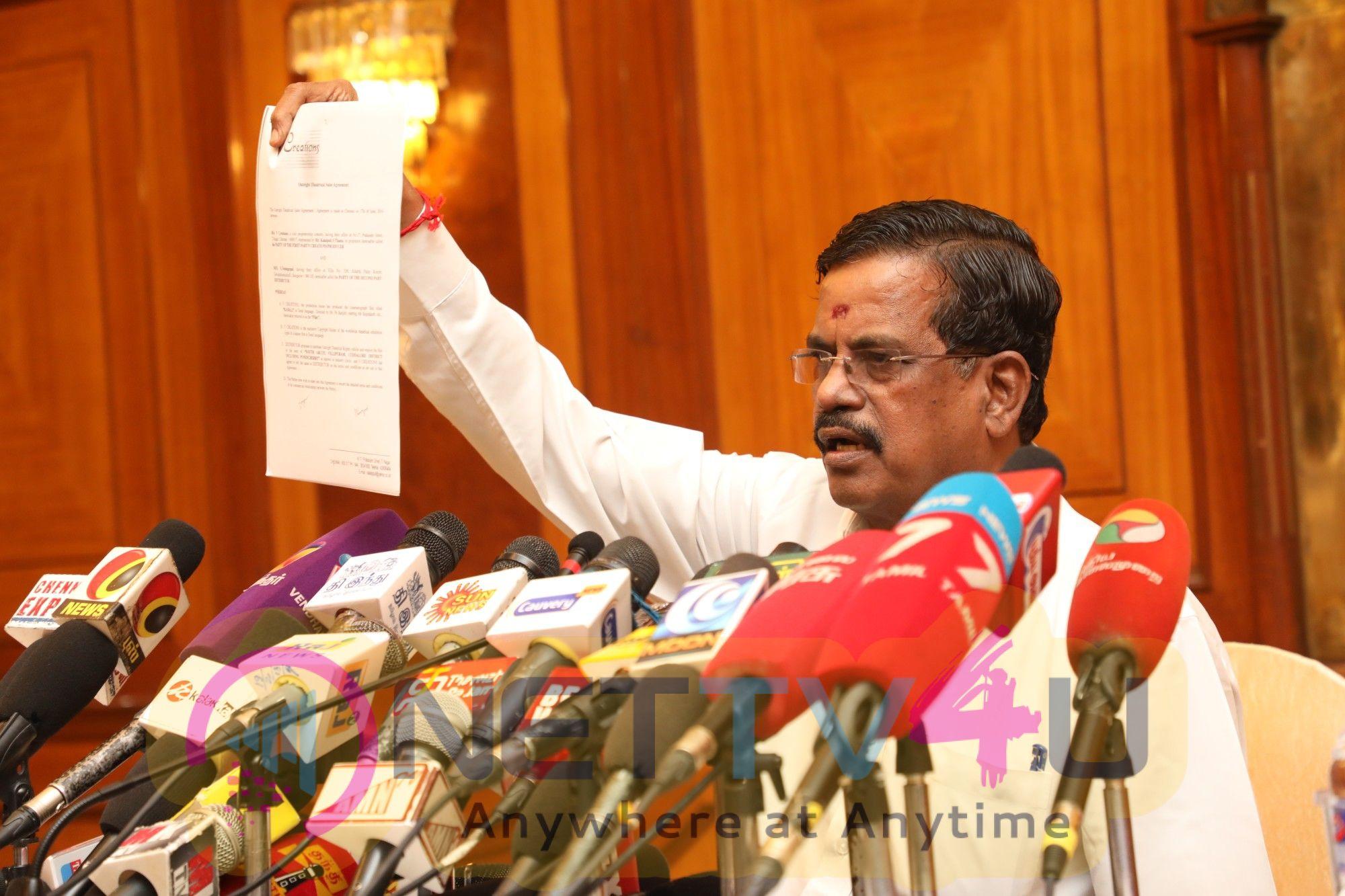 Producer Kalaipuli S Thanu Press Meet Pics