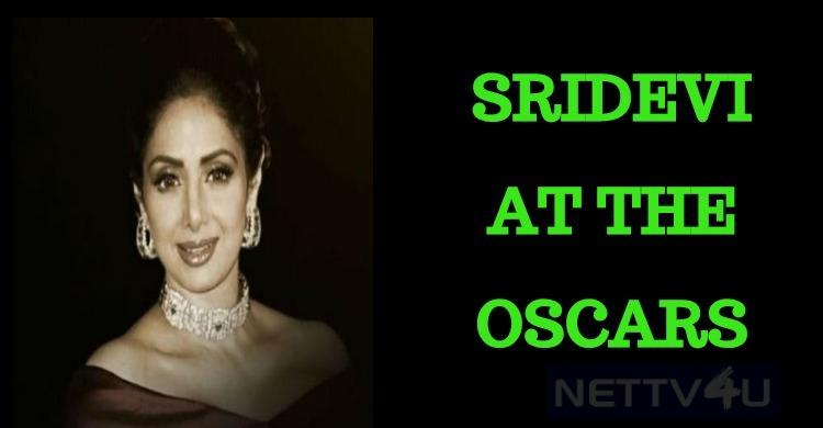Sridevi At The Oscars!