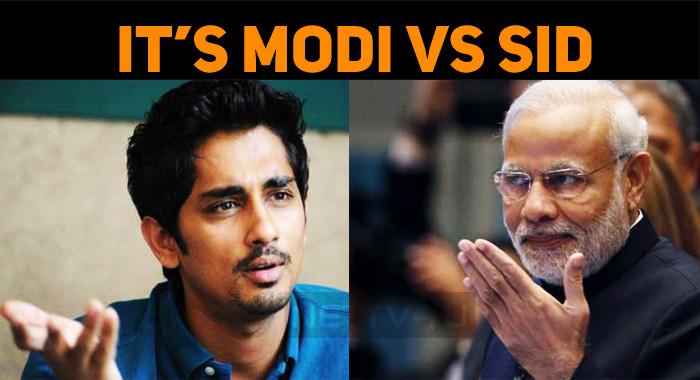 Word Fight In Twitter – Siddharth Vs Modi