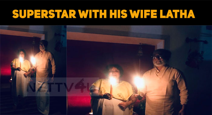 Superstar Posts His Photo With His Wife Latha!