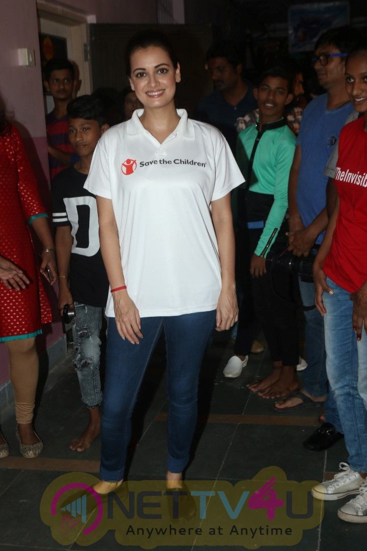 Dia Mirza Spotted At The Felicitation Of Child Champions At  Gilder Lane Municipal School In Mumbai Best Images