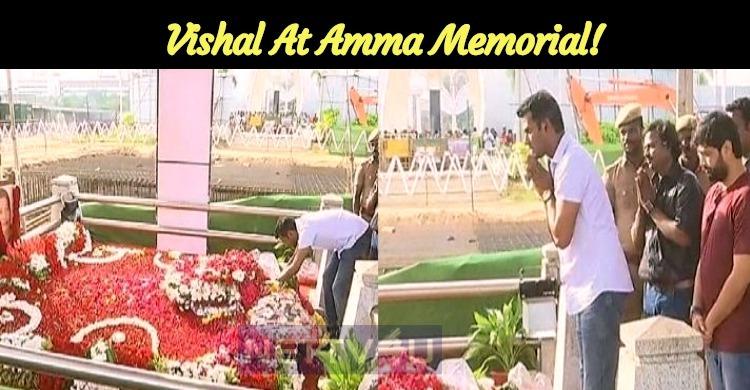 Vishal At Amma Memorial!