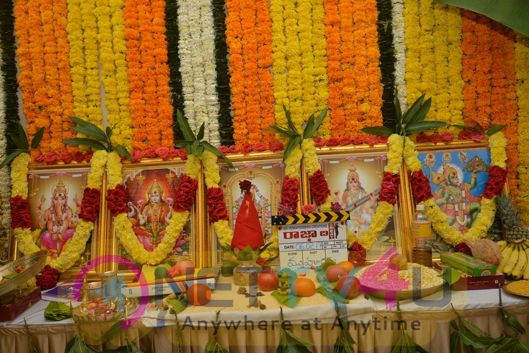 Vibrant Photos Of Ravi Teja's Raja The Great Movie Pooja Ceremony