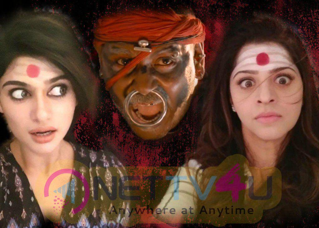 Kanchana 3 Movie Working Stills