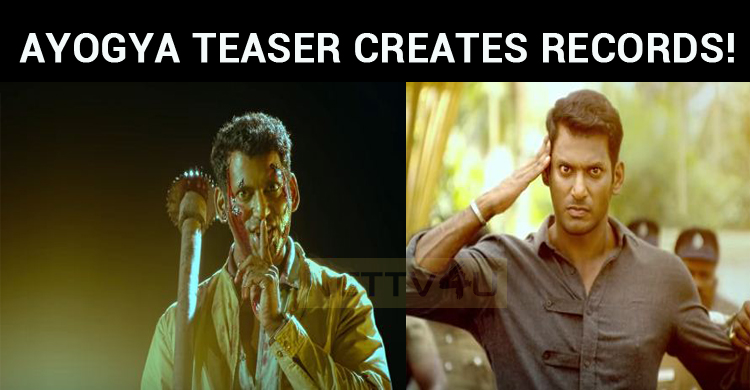 Vishal's Ayogya Teaser Creates Records!