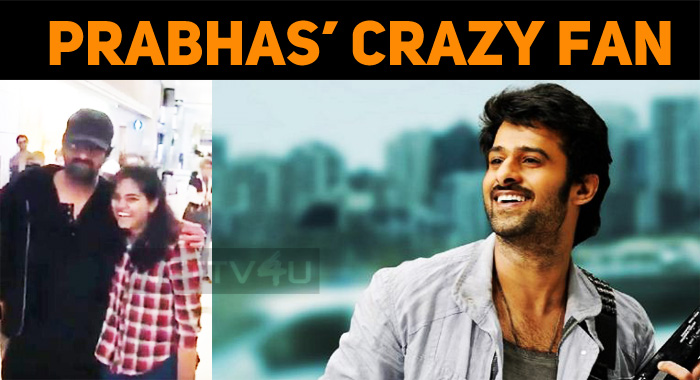 Prabhas' Crazy Fan Pats Him After A Snap!