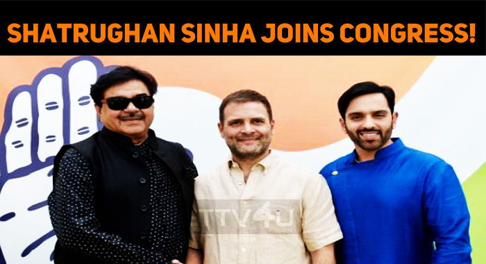 Shatrughan Sinha Joins Congress!
