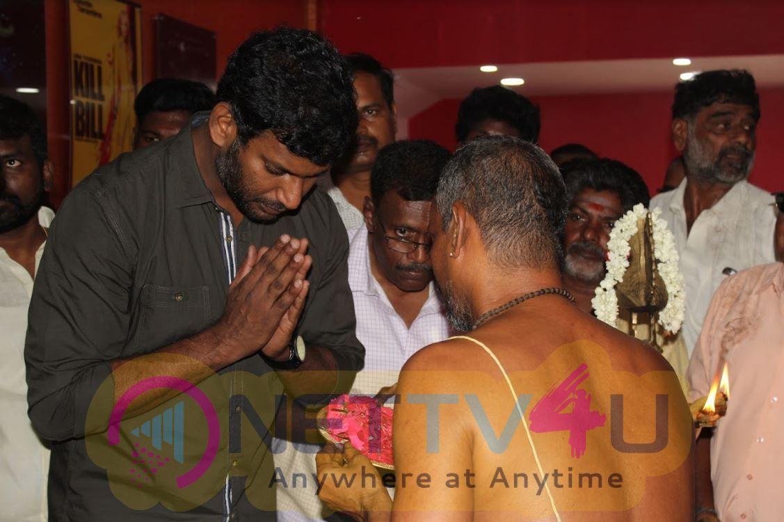 Vishal Inaugurate Thiruvotriyur MSM Lemuria Cinema Theater Photos