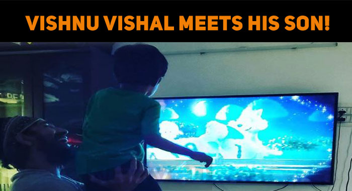 Vishnu Vishal Meets His Son!