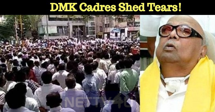 What Happened To Karunanidhi? DMK Cadres Shed Tears!