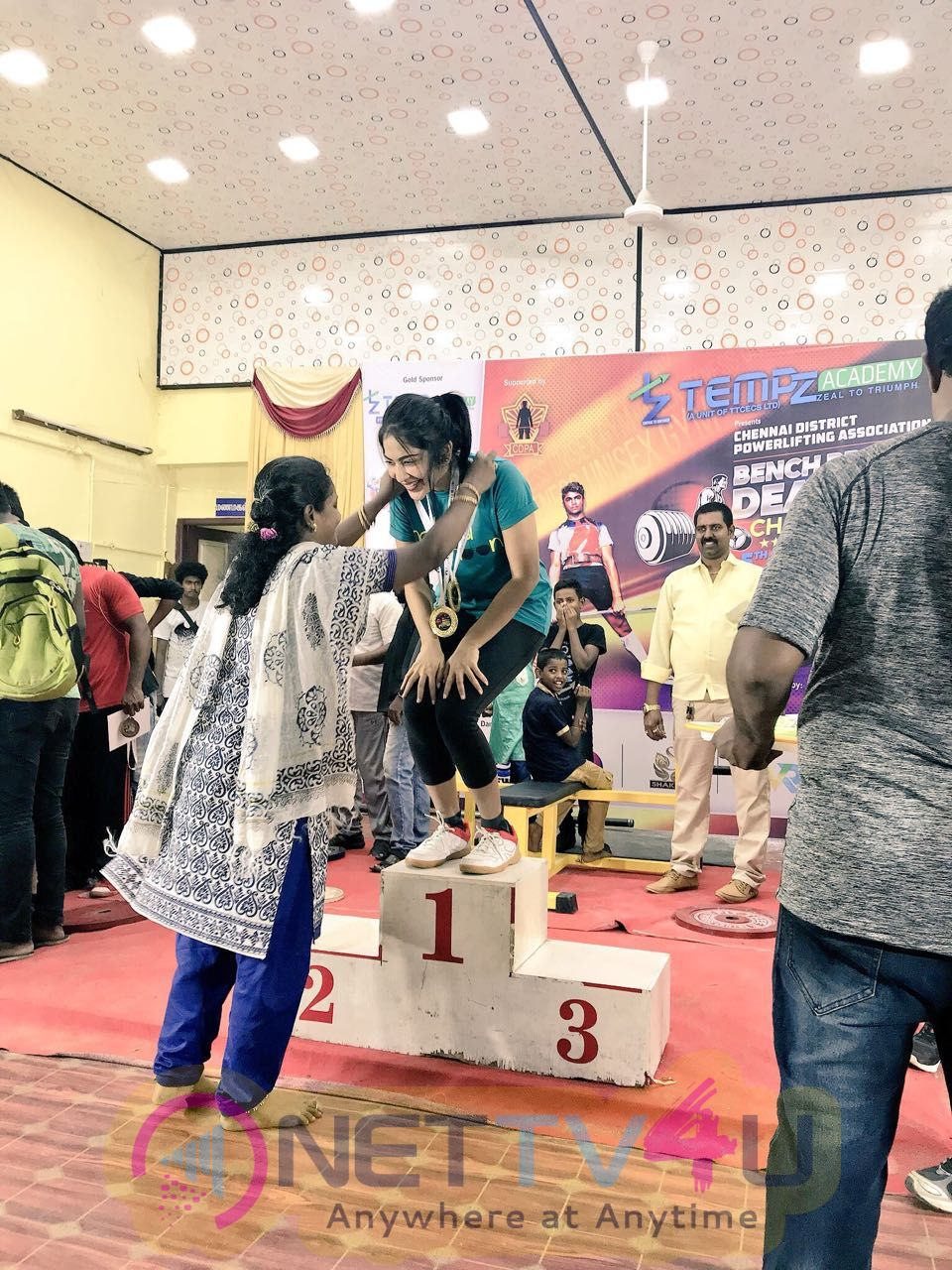 V J Ramya Subramanian Got Two Gold Medals In Dead Life And Bench Press Championships