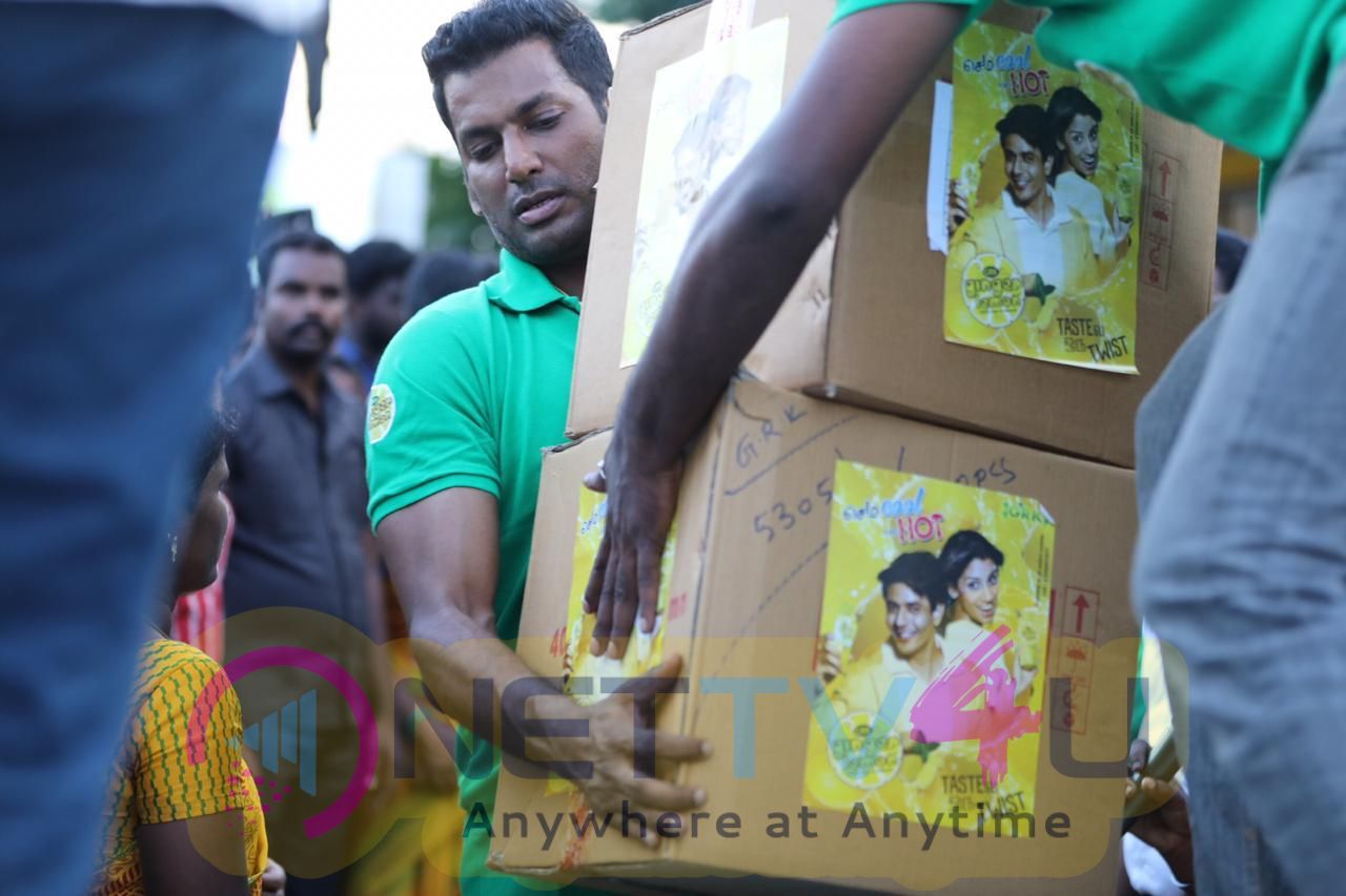 Actor Vishal Helps To Gaja Affected Delta Peoples Images