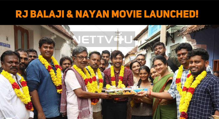 RJ Balaji And Nayanthara Movie Started Rolling!..