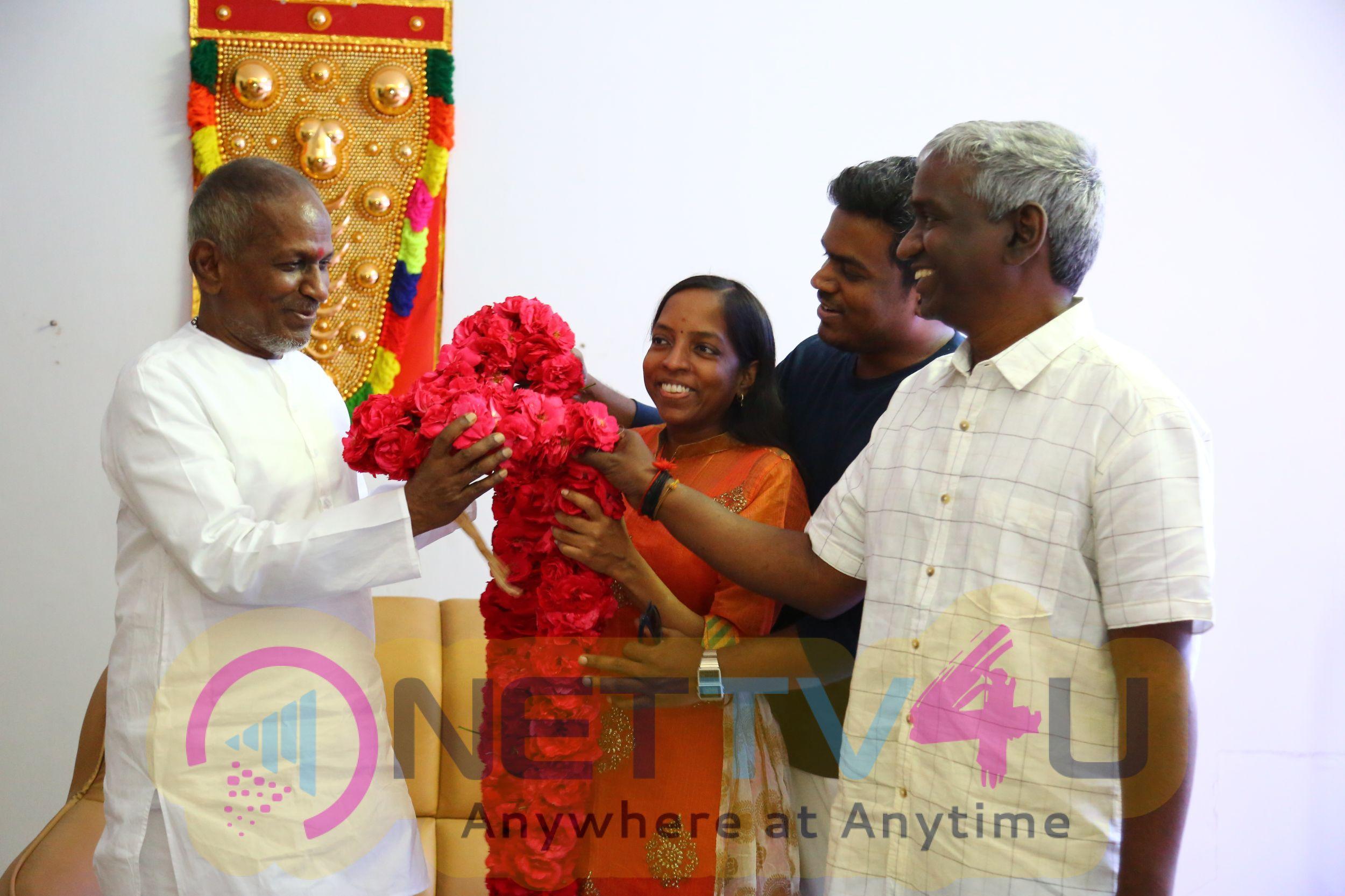 Yuvan Shankar Raja Meets Isaignani Ilaiyaraaja Images