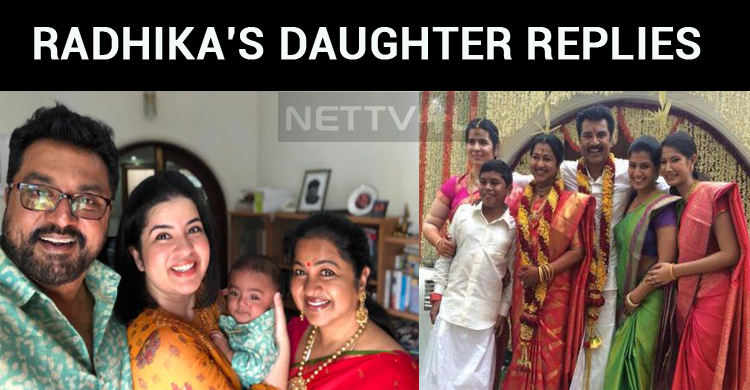 Radhika's Daughter Replies The Trollers!