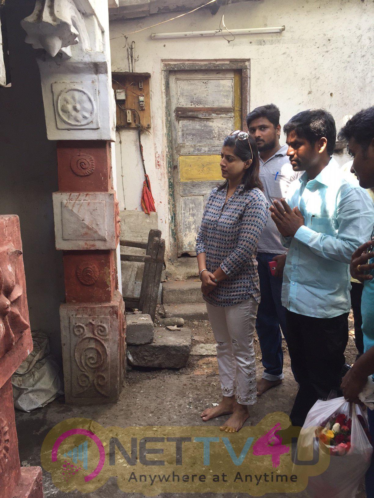 Actress Varalakshmi Sarathkumar Birthday Celebration Cute Stills Tamil Gallery