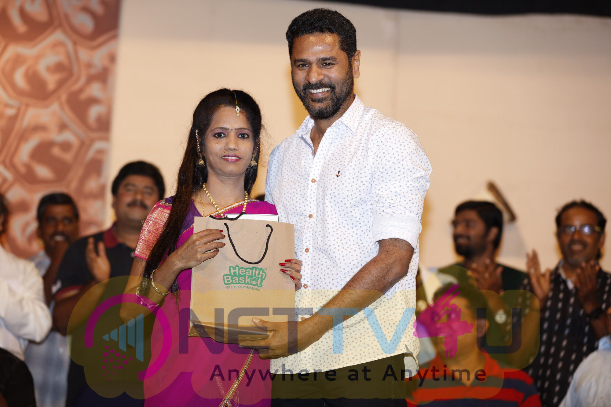 Actor Prabhudeva At 75th Successful Show Of YGM's Kasethan Kadavulada Stage Show Cute Stills