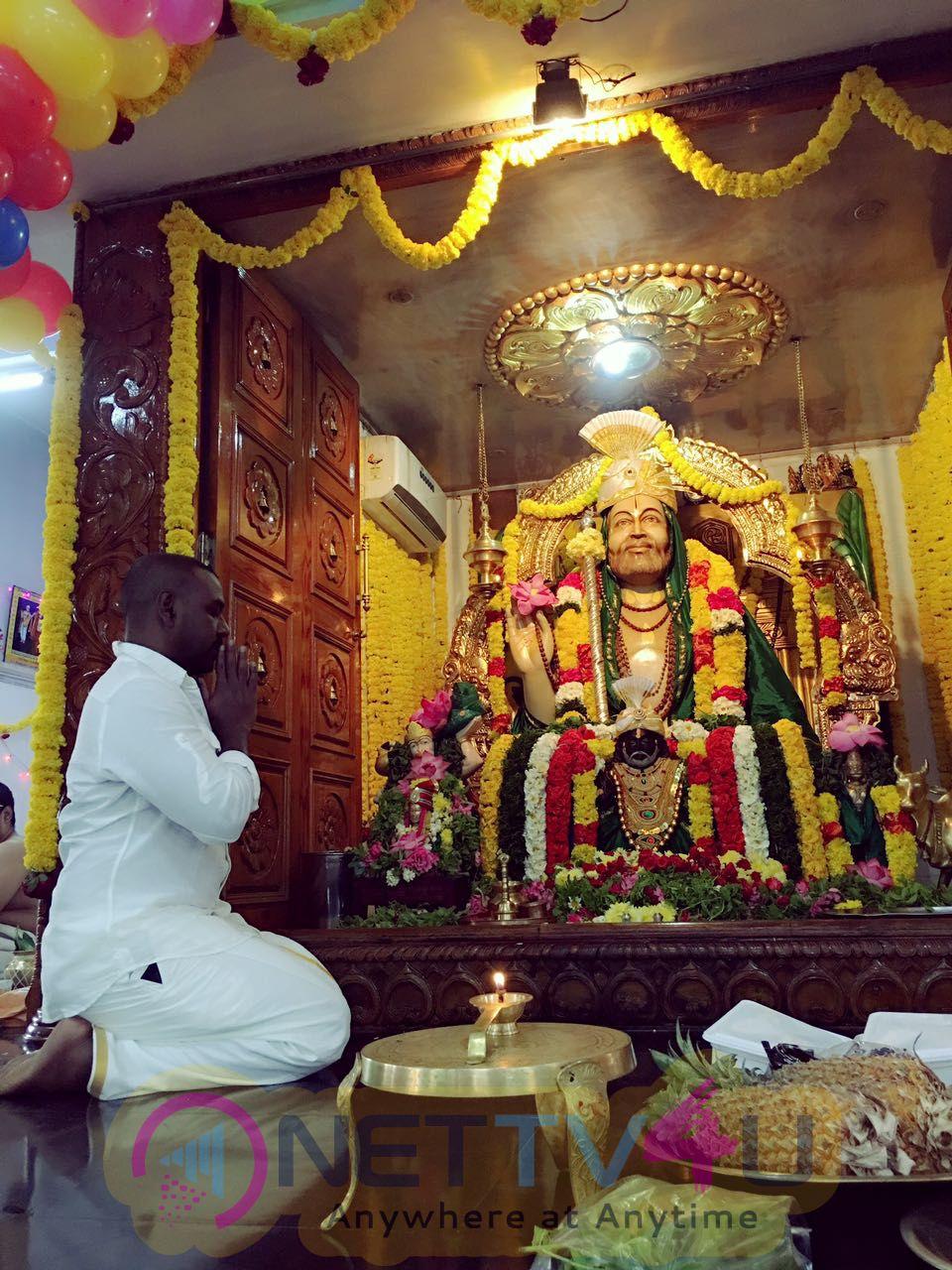 Raghava Lawrence Pray For Raghavendra Swamy Brindavanam Temple Photos
