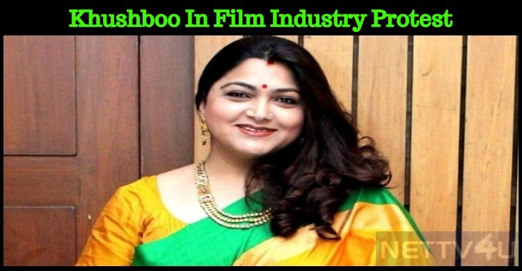 Khushboo To Take Part In The Protest!