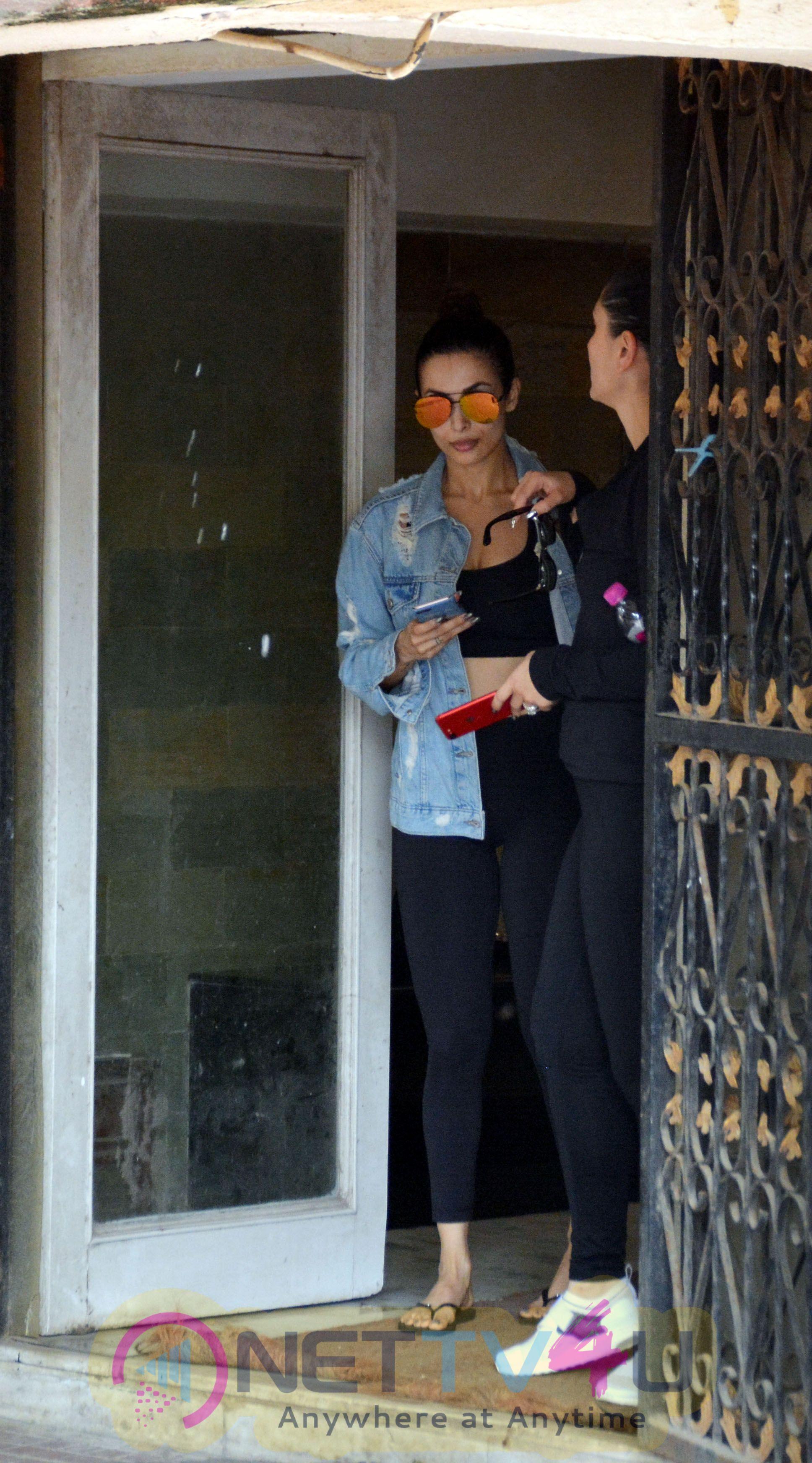 Actress Malaika Arora & Kareena Kapoor Spotted At Pilates Gym In Khar Stills