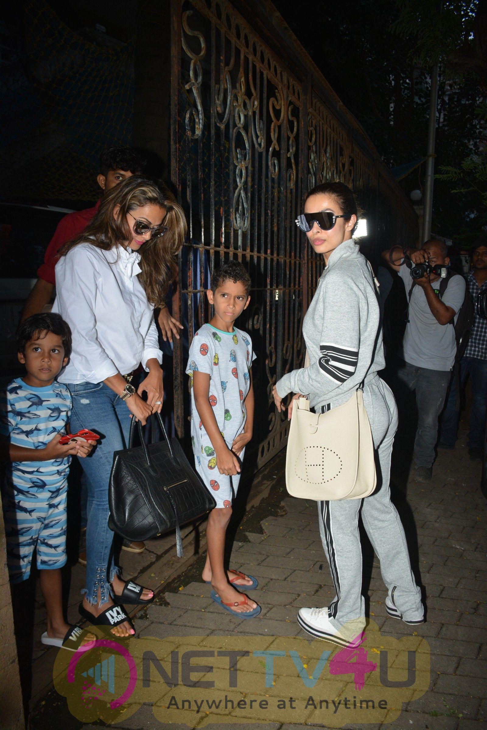 Malaika Arora And Amrita Arora Spotted At Bastian In Bandra Pics Hindi Gallery