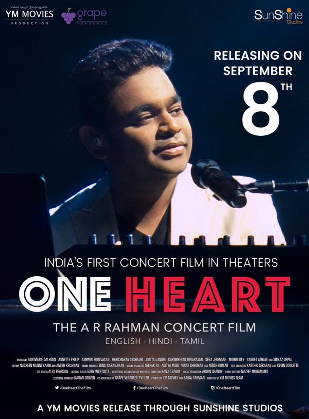 One Heart. The AR Rahman Concert Film Movie Review English Movie Review