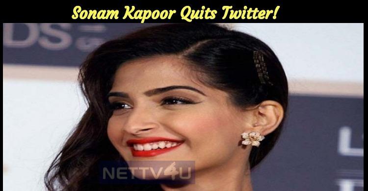Reason Why Sonam Kapoor Quit Twitter!