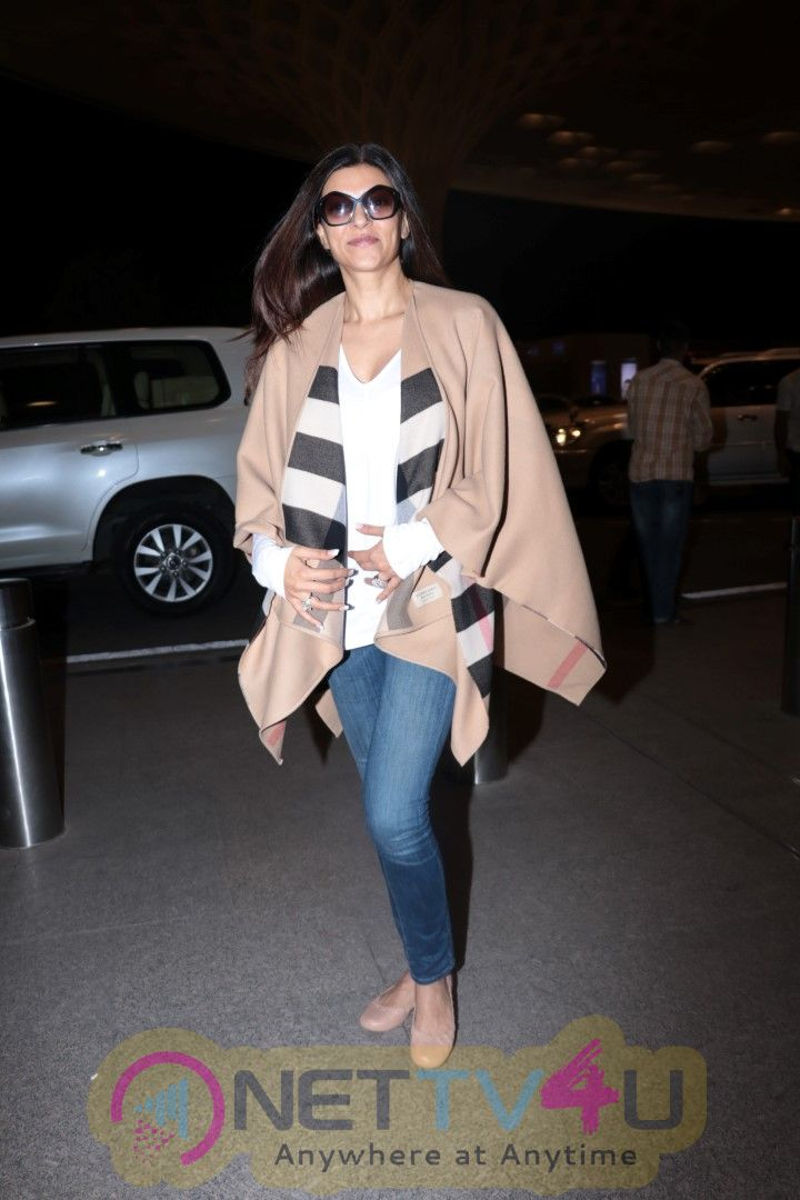 Sushmita Sen Spotted At Airport Images