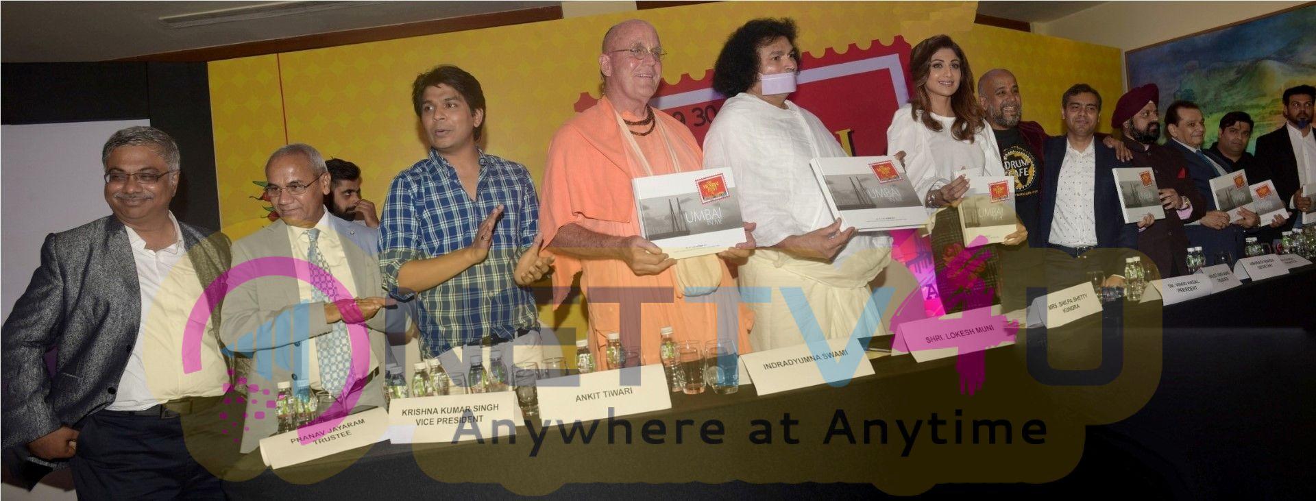 Unveiling & Announcement The Mumbai Fest By Shilpa Shetty Kundra & Ankit Tiwar Pics