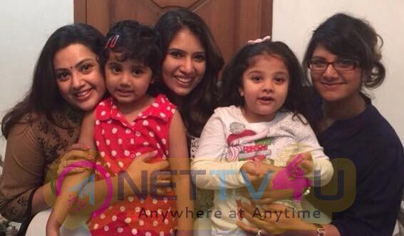 Actress Meena, Sanghavi And Rambha Diwali Celebrate With Their Children's Pics