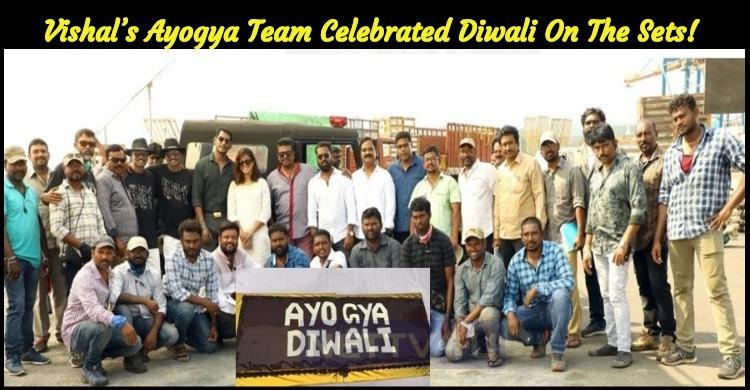Vishal's Ayogya Team Celebrated Diwali On The S..