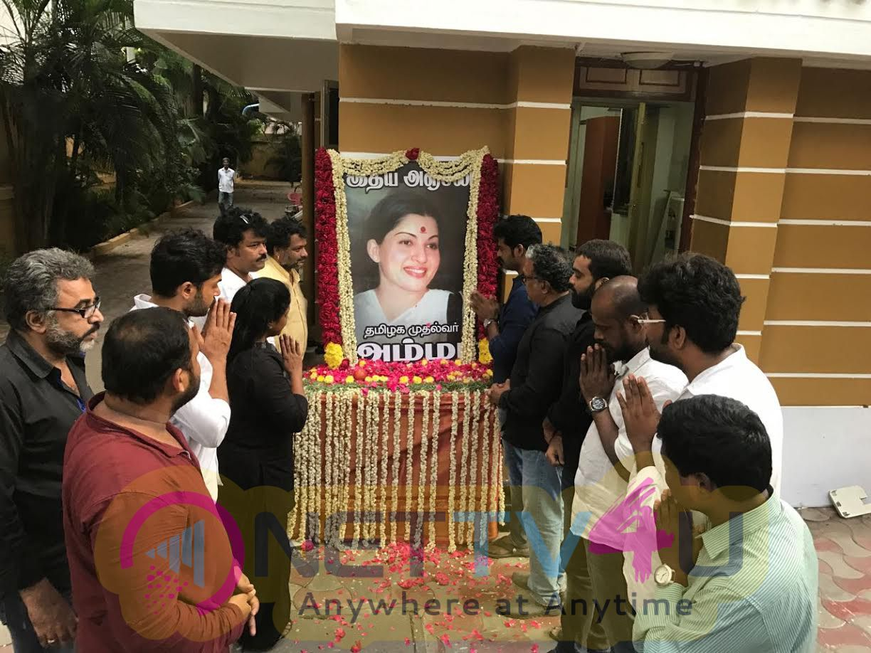 NadigarSangam 's Deep Condolences On PuratchiThalaivi Amma
