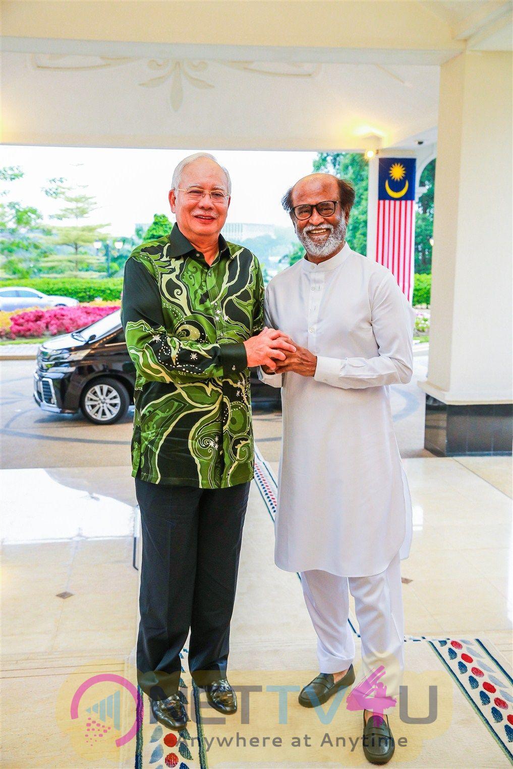 Superstar Rajinikanth Meets Malaysia PM Images