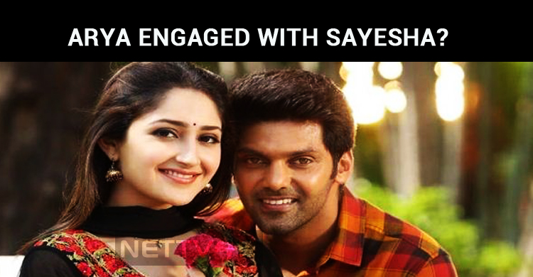 Arya Engaged With Sayesha?