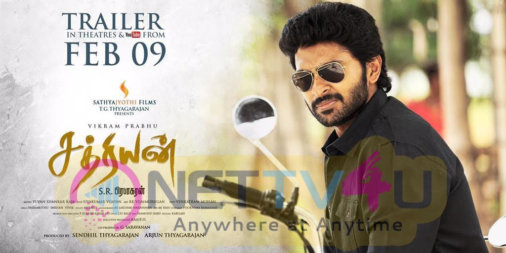 Actor Vikram Prabhu 's Sathriyan Trailer Will Be Released On February 9th Poster