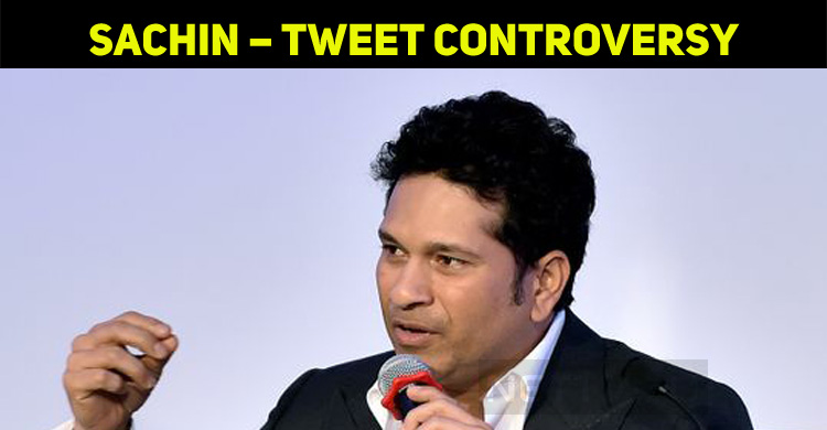 Sachin Tendulkar – Tweet Controversy