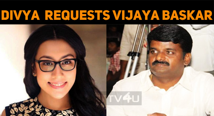 Divya Sathyaraj's Request To Health Minister!